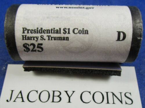 2015 D PRESIDENTIAL DOLLAR ROLL~Harry Truman~Head//Tail