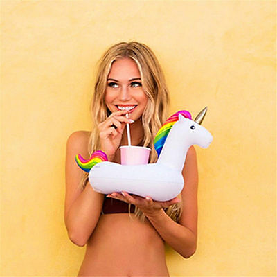 10Pcs Swimming Inflatable Floating Pool Bath Beach Drink Can Cup Holder