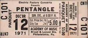 PENTANGLE-1971-ACADEMY-OF-MUSIC-CONCERT-UNUSED-PHILADELPHIA-TICKET-EX-2-NMT