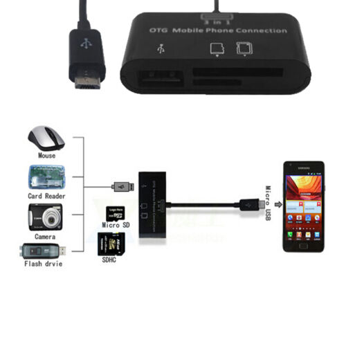 Card Reader Adaptor 3 in 1 USB Camera Connection Kit SD For samsung,htc,LG etc