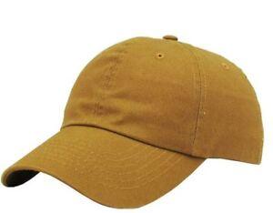 84073d5b6f Classic Cotton Dad Hat Adjustable Plain Cap Polo Style Low Profile ...