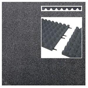 2 M² Fallschutzmatten Grau Verbinder Fallschutzplatte Gummimatte