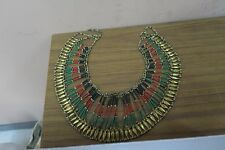 Vintage Ethnic Tribal African Moroccan Tunisian Yemenite Bib Necklace Cleopatra
