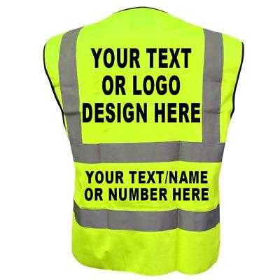5 colors Adult High Visibility Hi Viz Vest Waistcoat Workmans Safety hi vis vest XL, Orange XXS-XXL