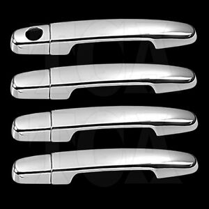 Details about FOR TOYOTA YARIS 2007-2011 CHROME 4 DOOR HANDLE COVERS w/oPSK  07 08 2009 2010 11