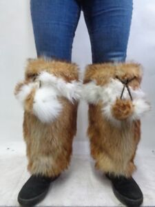 Leg Wrap Men amp; New Raccoon Refurbished Fur Tanuki Fox Warmers Women qpO8Yw