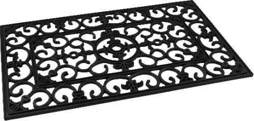 Fußabtreter Fußmatte Ornament Vorleger eckig Gummi Türvorleger Gummimatte Matte