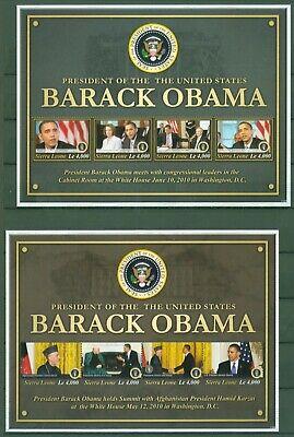 Sierra Leone 2011 - Barack Obama - Hamid Karzai Nancy Pelosi - 5449-52 + 5453-56