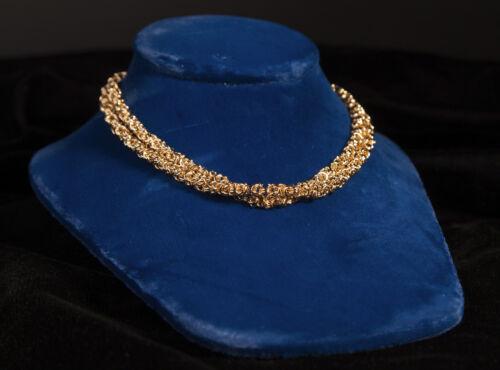 Signed Elegant Gold Toned Vintage Givenchy Cord Necklace
