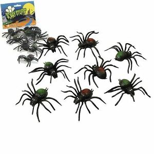 Halloween-Props-Accessories-Rubber-Creatures-Spiders-Bats-Rats