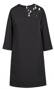 COP COPINE hiver 2017-2018   robe à épaule ajourée BRODERY, prix  black 38