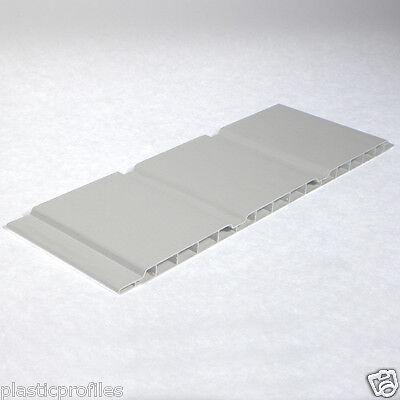 PLASTIC UPVC PVC 9mm SOFFIT BOARD 300mm T&G HOLLOW CLADDING 5 METERS 2 X 2.5
