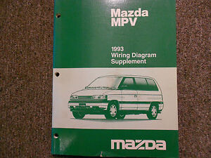 1993 Mazda    MPV       Van    Electrical Supplement    Service       Repair       Shop    Manual OEM BOOK 93   eBay