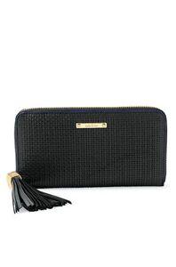 Stella & Dot Mercer Zip Wallet Black Basketweave Brand New in Original Package