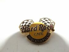 HARD ROCK CAFE INDIANAPOLIS PIN BADGE - CHEQUERED FLAGS INDY 500