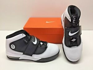 Nike Zoom Soldier IV 4 Lebron Basketball White Black Sneakers Shoes ... abc8c74d0b