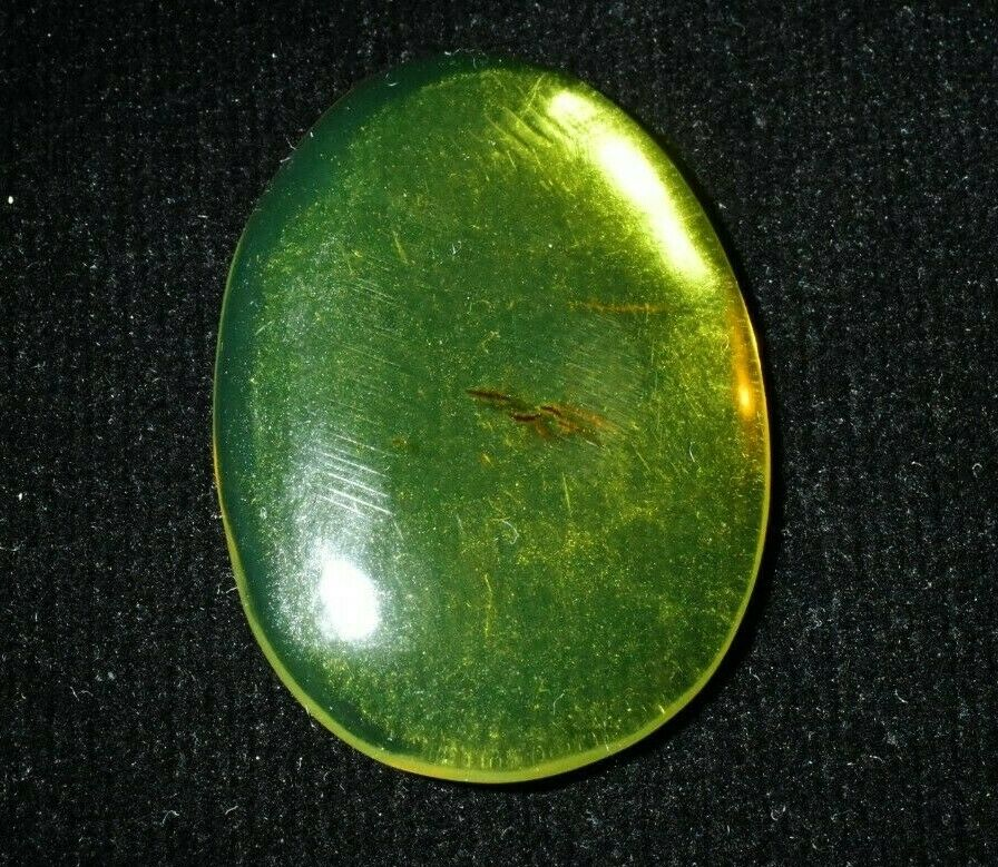 Cabochon Dominican Amber Green Gemstone Natural Authentic (3.5 g) d1076