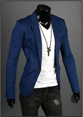 Fashion Stylish Men's Casual Slim Fit One Button Suit Blazer Coat Jacket Tops