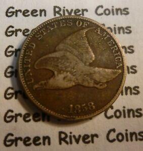 1858 Flying Eagle  Cent  Coin  #P58-L  Large Letter Better Grade