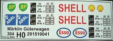 Aral Shell Esso und BP Logos für Kesselwagen für Spur H0 oder 1/87 Decals