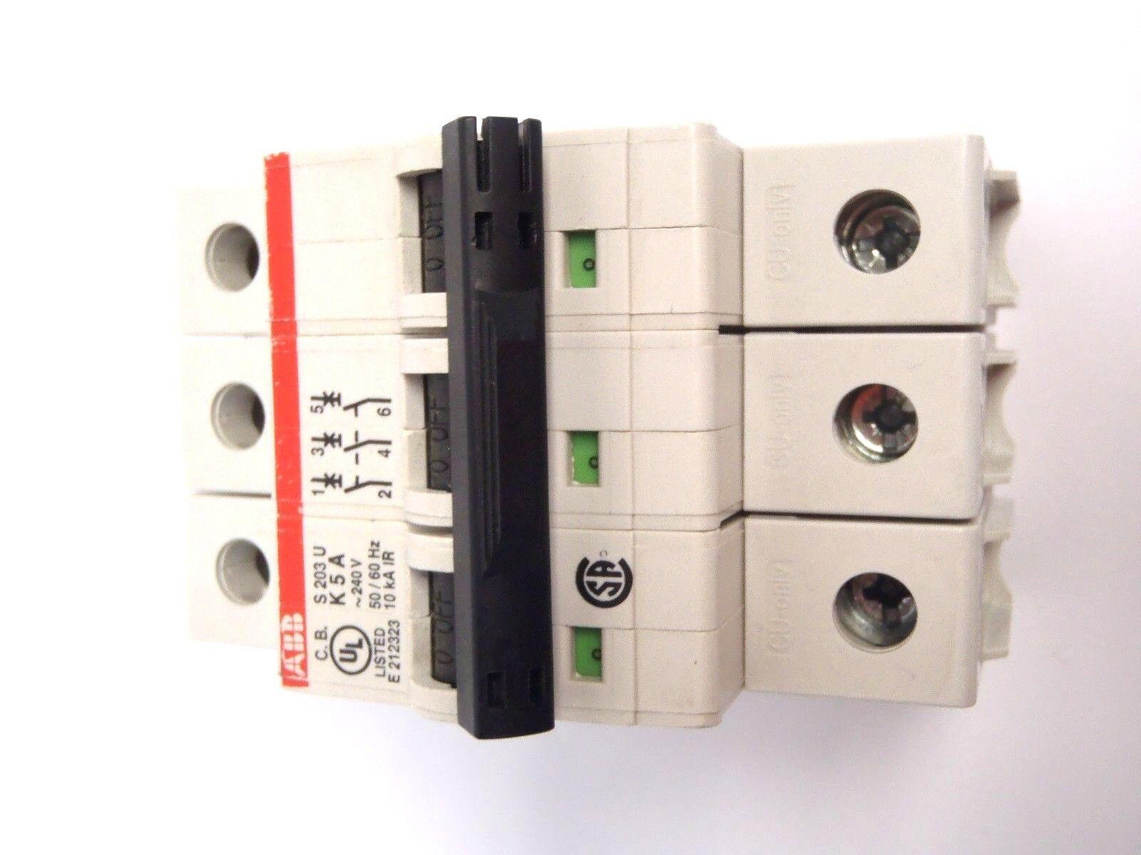 ABB S203U K40A 240V 50//60 Hz 10kA IR 3 Pole Circuit Breaker S 203 U-K S203U-K40