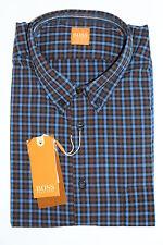 NUOVO HUGO BOSS Orange Camicia Taglia L 41-42, slim fit, 6110