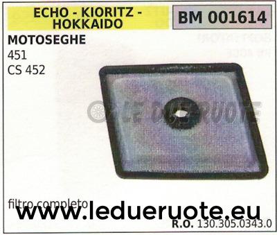 452 CS452VL ECHO CS451VL Filtro aria Motosega 451