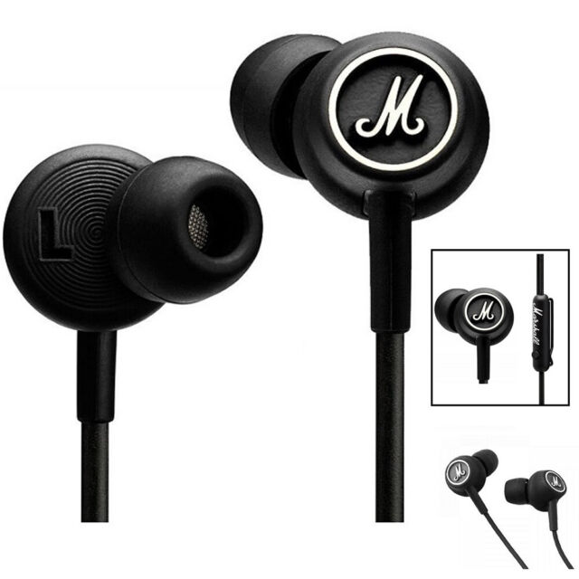 100% New Marshall Mode Earphones Headphones In-Ear Earbuds Microphone Remote
