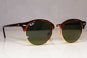 RAY-BAN-Mens-Womens-Sunglasses-Brown-Round-CLUBROUND-GOLD-RB-4246-990-23848