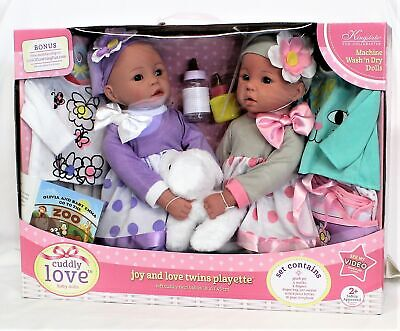 "Cuddly Love Baby Dolls 18/"" Baby Allie Gift Set Cute Baby Doll with Puppy"