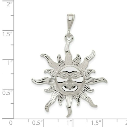 Details about  /925 Sterling Silver Sun Charm Pendant 1.1 Inch