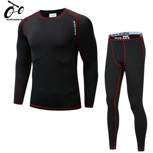 Men/'s Motorcycle Base Layer bike Underwear Cycling Shirt Jersey Tops Trousers