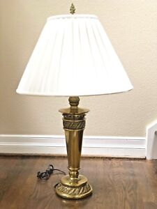 Details About Stiffel Feather Torch Solid Brass Table Lamp 34 Contemporary Classic