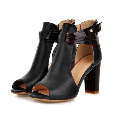 Damen Blockabsatz Sandaletten Abendschuhe Sandalen Peeptoes Pumps Absatzschuhe