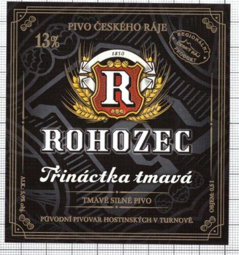 CZECH Brewery Rohozec Trinactka tmava new 2020 beer label C2386 012