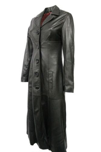 Real Napa stile Gothic Jacket Ladies Coat casual Design Trench New Black in pelle qwYS06xqp