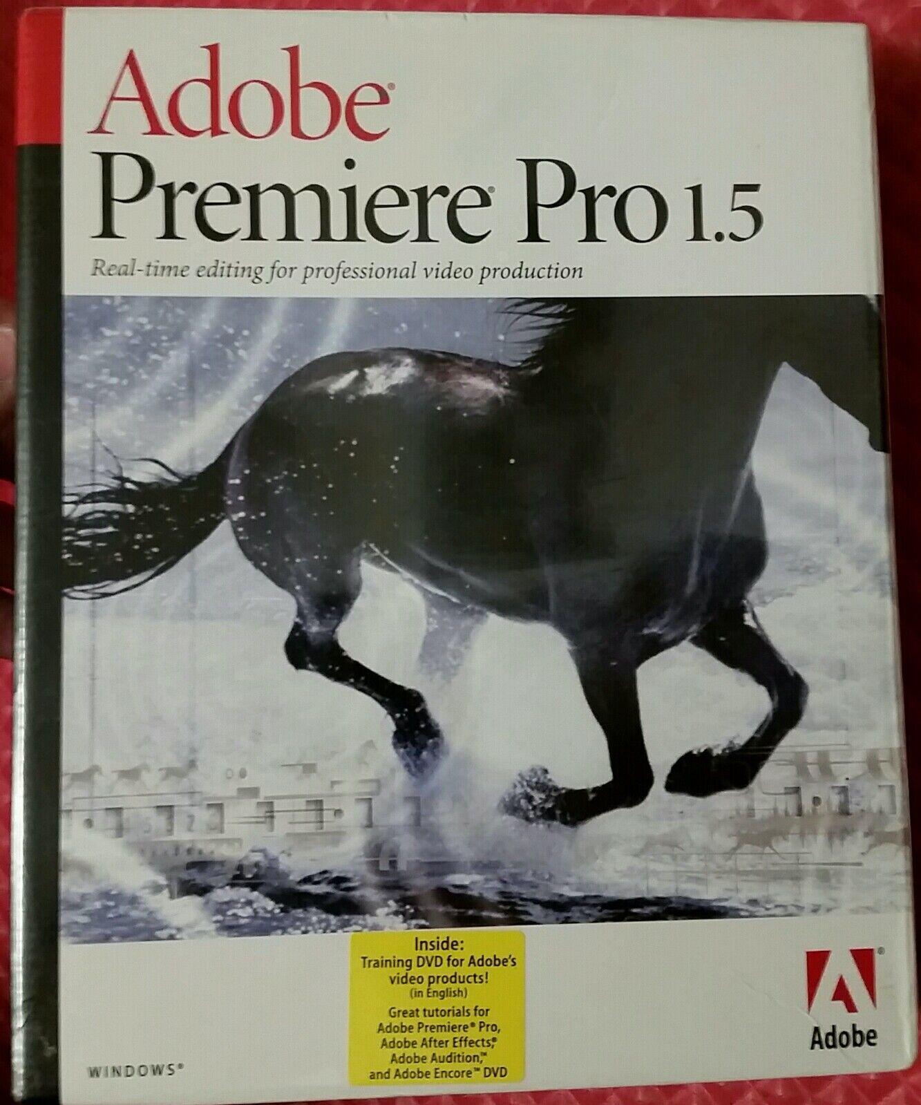 Adobe premiere 1. 5 tryout crack.