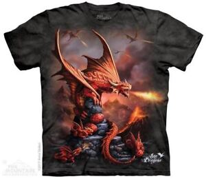 Fire-Dragon-T-Shirt-by-The-Mountain-Age-of-Dragons-Red-Dragon-Sizes-S-5XL-NEW