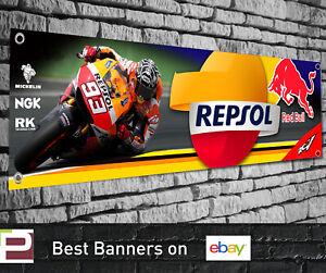 Repsol Honda Racing Banner for Garage, Workshop, Sign, Moto GP, Marc Marquez