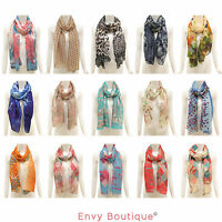 LADIES WOMENS HOT CELEBRITY LARGE SOFT SCARF ANIMAL PRINT SHAWL STOLE SCARVES