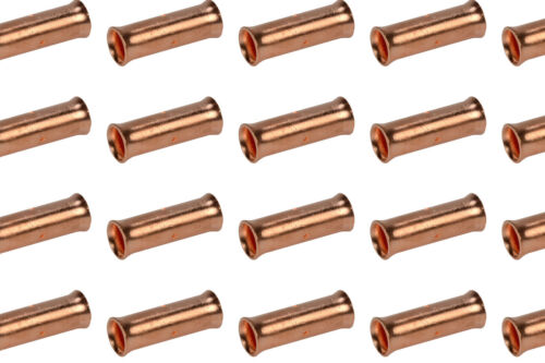 2 AWG TEMCo Butt Splice Connector Bare Copper Uninsulated Gauge 50 Pack