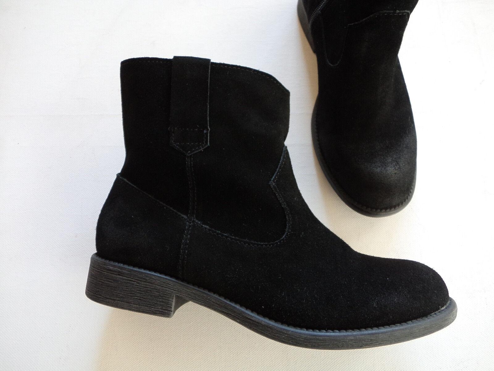 NEU BLACK Chelsea Boots Stiefelette black used Look echt Leder Größe 37 - 42