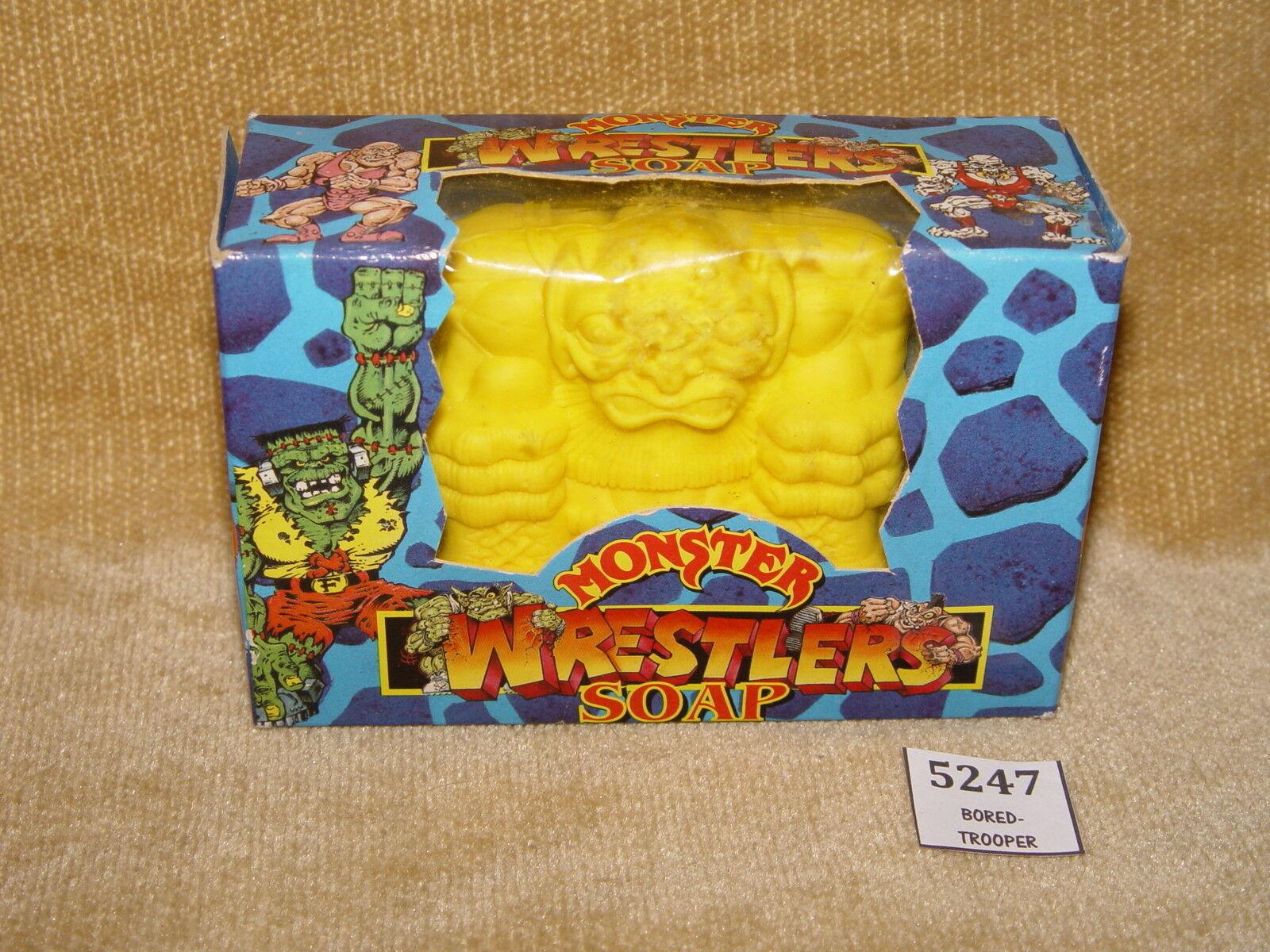 Santo Grial MIMP monstruos en mi bolsillo luchadores de Coloreee giallo en caja de jabón V Raro 1990s
