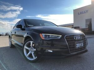 2015 Audi A3 1.8T Komfort Leather HTD seats XM Sunroof