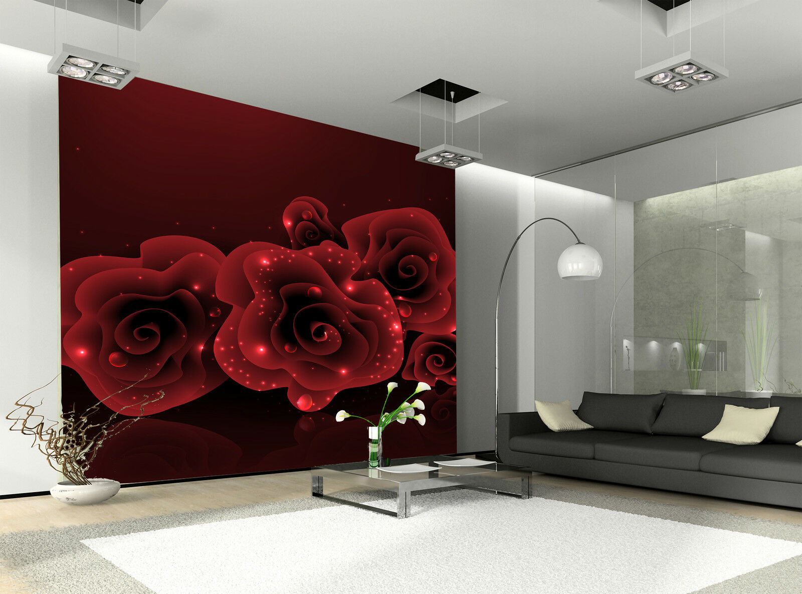 Stylish ROT Rose Wall Mural Photo Wallpaper GIANT DECOR Paper Poster Free Paste