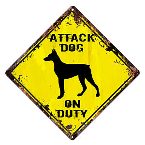 DS-0024-ATTACK-DOG-ON-DUTY-Diamond-Sign-Rustic-Chic-Sign-Shop-Home-Decor-Gift