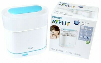 Philips AVENT 3-in-1 Electric Steam Sterilizer White One Size NEW