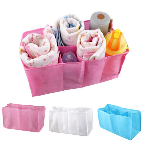 Portable Travel Baby Diaper Nappy Organizer Bottle Changing Divider Storage Bag