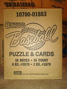 1987 Donruss BASEBALL CASE 8 BOXES + 2 BOXES OF LEAF 10 TOTAL BOXES