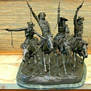 """""""Coming Through the Rye"""", Founders Authorized Lt. Ed. Bronze by Remington - 29""""!"""